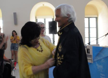Eugenio Barba is honoured by the Peloponnesos University on 3 July 2019